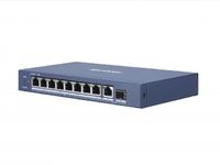 Коммутатор Hikvision DS-3E0510P-E/M 9G 1SFP 8PoE 58W неуправляемый