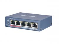 Коммутатор Hikvision DS-3E0505P-E/M 5G 4PoE+ 35W неуправляемый
