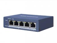 Коммутатор Hikvision DS-3E0505P-E 1x100Mb 4G 4PoE+ 60W неуправляемый