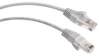 Патч-корд многожильный медный U/UTP категория 5e PVC 3,0 м, серый