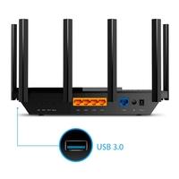 Роутер беспроводной TP-Link Archer AX73 AX5400 10/100/1000BASE-TX черный