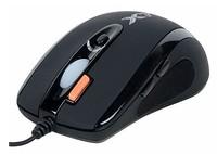Мышь A4 X-710MK черный оптическая (2000dpi) USB игровая (6but)