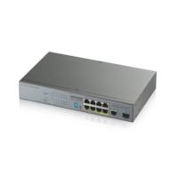 Коммутатор Zyxel GS1300-10HP-EU0101F 9G 1SFP 8PoE+ 130W неуправляемый