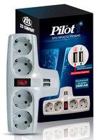 Сетевой фильтр Pilot T (4 розетки) белый (коробка)