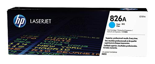 Картридж лазерный HP 826A CF311A голубой для HP CLJ Ent M855