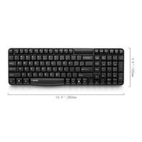 Клавиатура Rapoo E1050 черный USB беспроводная slim