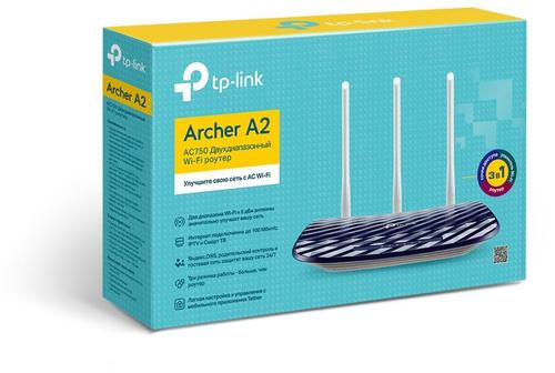 Роутер беспроводной TP-Link Archer A2 AC750 10/100BASE-TX