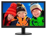 """Монитор Philips 23.6"""" 243V5LSB (10/62) черный TN+film LED 5ms 16:9 матовая 1000:1 250cd 1920x1080 D-Sub FHD 3.66кг"""