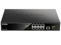 Коммутатор D-Link DGS-1010MP/A1A 9G 1SFP 8PoE 125W неуправляемый