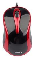 Мышь A4 V-Track Padless N-360-2 красный/черный оптическая (1000dpi) USB (2but)