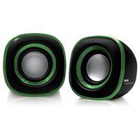 Колонки BBK CA-301S 2.0 черный/зеленый 3Вт