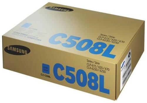 Тонер Картридж Samsung CLT-C508L SU058A голубой (4000стр.) для Samsung CLP-620/670/CLX-6220