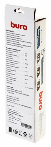 Сетевой фильтр Buro 600SH-16-3-W 3м (6 розеток) белый (коробка)