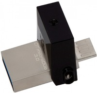 Флеш Диск Kingston 16Gb DataTraveler microDuo DTDUO3/16GB USB3.0 черный