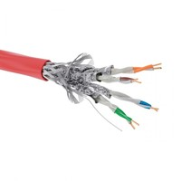 Кабель сетевой UTP 4 пары cat5E solid 0.45мм CCA 305м красный