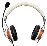 Наушники с микрофоном Hama HS-320 белый/золотистый 2м накладные оголовье (00053991)