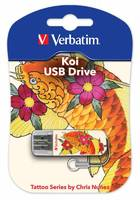 Флеш Диск Verbatim 16Gb Store n Go Mini Tattoo Koi 49886 USB2.0 белый/рисунок