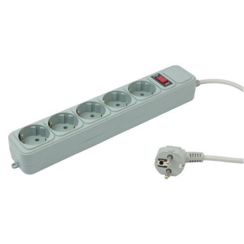 Сетевой фильтр PC Pet AP01006-1.8-GR 1.8м (5 розеток) серый (пакет ПЭ)