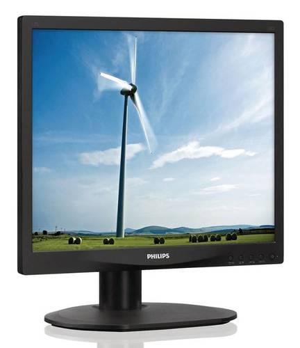"Монитор Philips 17"" 17S4LSB (00/01) черный TN+film LED 5ms 5:4 DVI матовая 250cd 1280x1024 D-Sub 3.54кг"