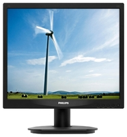 "Монитор Philips 17"" 17S4LSB (10/62) черный TN+film LED 5ms 5:4 матовая 250cd 1280x1024 D-Sub 3.54кг"