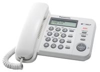 Телефон проводной Panasonic KX-TS2356RUW белый