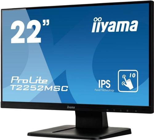"Монитор Iiyama 21.5"" ProLite T2252MSC-B1 черный IPS LED 7ms 16:9 HDMI M/M глянцевая 1000:1 250cd 178гр/178гр 1920x1080 D-Sub DisplayPort FHD Touch 4.8кг"