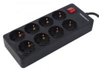 Сетевой фильтр Ippon BK-238 3м (8 розеток) черный (коробка)