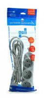 Сетевой удлинитель Powercube PC-Y-5-32-3 3м (5 розеток) серый (пакет ПЭ)