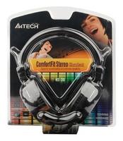 Наушники с микрофоном A4 HS-30 черный 2м мониторы оголовье