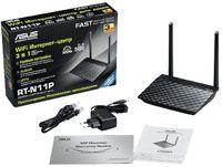 Роутер беспроводной Asus RT-N11P N300 10/100BASE-TX черный