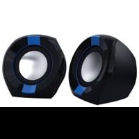 Колонки Oklick OK-203 2.0 черный/синий 5Вт
