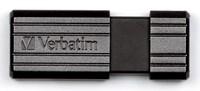 Флеш Диск Verbatim 16Gb PinStripe 49063 USB2.0 черный