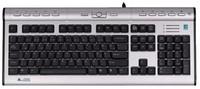 Клавиатура A4 KLS-7MUU серебристый/черный USB slim Multimedia