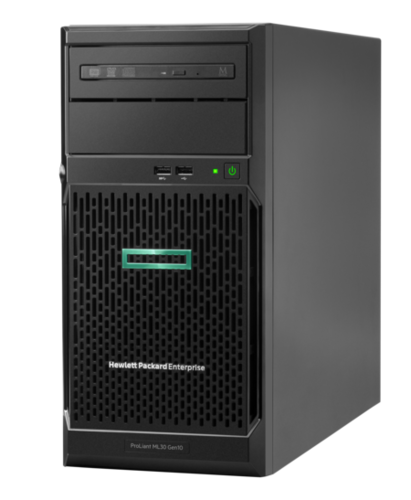 Сервер HPE ProLiant ML30 Gen10 1xE-2224 1x16Gb S100i 1G 2P 1x350W 4 LFF (P16928-421)