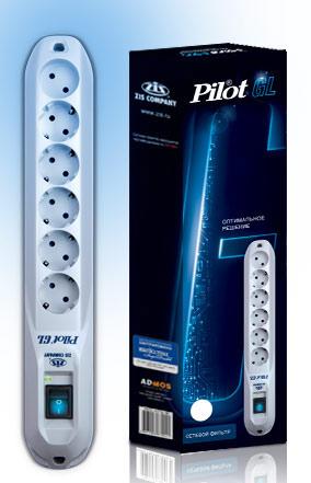 Сетевой фильтр Pilot GL 5м (6 розеток) белый (коробка)