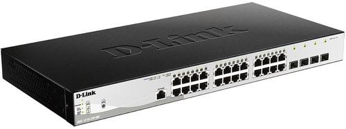 Коммутатор D-Link DGS-1210-28P/ME/B1A 24G 4SFP 24PoE 193W управляемый