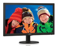"Монитор Philips 23.6"" 243V5LSB (10/62) черный TN+film LED 5ms 16:9 матовая 1000:1 250cd 1920x1080 D-Sub FHD 3.66кг"