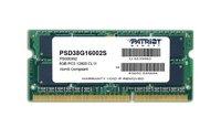 Память DDR3 8Gb 1600MHz Patriot PSD38G16002S RTL PC3-12800 CL11 SO-DIMM 204-pin 1.5В