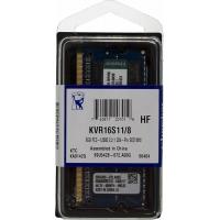 Память DDR3 8Gb 1600MHz Kingston KVR16S11/8 RTL PC3-12800 CL11 SO-DIMM 204-pin 1.5В