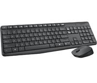 Клавиатура + мышь Logitech MK235 клав:серый мышь:серый USB беспроводная