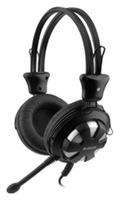 Наушники с микрофоном A4 HS-28 черный 1.8м мониторы оголовье (HS-28 (BLACK))
