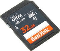 Флеш карта SDHC 32Gb Class10 Sandisk SDSDUNB-032G-GN3IN Ultra 48