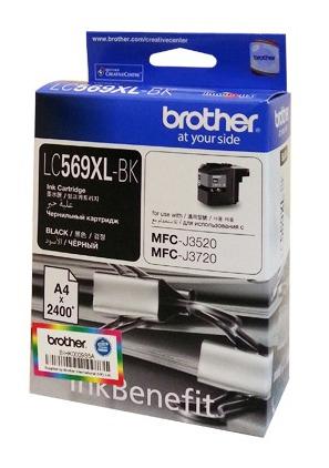 Картридж струйный Brother LC569XLBK черный (2400стр.) для Brother MFC-J3720