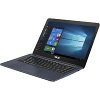 "Ноутбук Asus VivoBook E402WA-GA040 E2 6110/2Gb/500Gb/AMD Radeon R2/14""/HD (1366x768)/Endless/dk.blue/WiFi/BT/Cam"