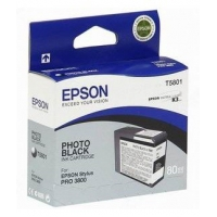 Картридж струйный Epson T5801 C13T580100 фото черный (80мл) для Epson St Pro 3800