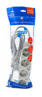 Сетевой удлинитель Powercube PC-Y-5-43-5 5м (7 розеток) серый (пакет ПЭ)