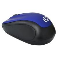 Мышь Oklick 665MW черный/синий оптическая (1000dpi) беспроводная USB (3but)