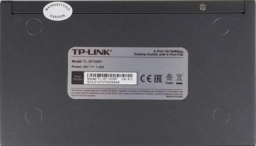 Коммутатор TP-Link TL-SF1008P 8x100Mb 4PoE 57W неуправляемый