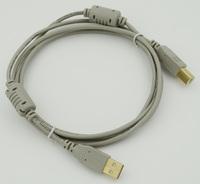 Кабель USB A(m) USB B(m) 1.8м феррит.кольца серый