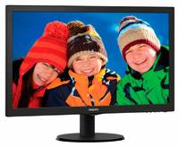 "Монитор Philips 23.6"" 243V5LAB (00/01) черный TN+film LED 5ms 16:9 DVI M/M полуматовая 250cd 1920x1080 D-Sub FHD"